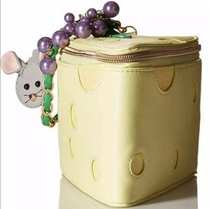 Betsey Johnson in queso emergency cheese purse